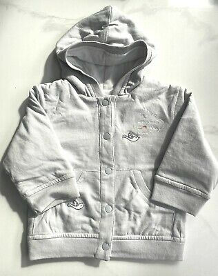 £1.50 • Buy Marese Baby Reversible Light Grey Padded Jacket With Hood Age 6 Months