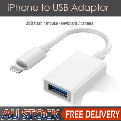 AU9.55 • Buy IPhone To USB OTG Data Adapter IOS Male To USB 3.0 A Female Converter
