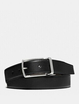 $30.99 • Buy NWT Coach F59116 Modern Harness Cut-to-Size Reversible Leather Belt In Black/Brn
