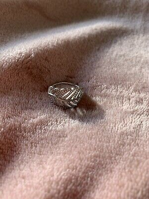 AU15 • Buy Pandora Ring Sterling Silver Approx Size 7 Feather