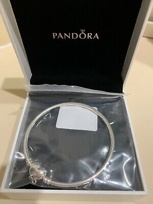 AU35 • Buy Pandora 19cm Forever Love Heart Mother's Day Bangle Mothers Genuine 598891