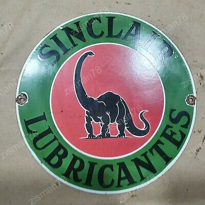 $ CDN44.06 • Buy Sinclair Lubricantes Vintage Porcelain Sign 12 Inches Round