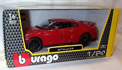 £19.95 • Buy Nissan GT-R 2017 Red 1:24 Scale Diecast  Burago New In Box 21082