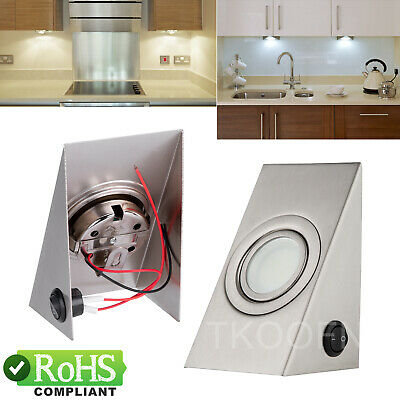 £8.99 • Buy Wedge Under Cabinet Led Mains Kitchen Cupboard Counter Light Kit Cool White Lamp