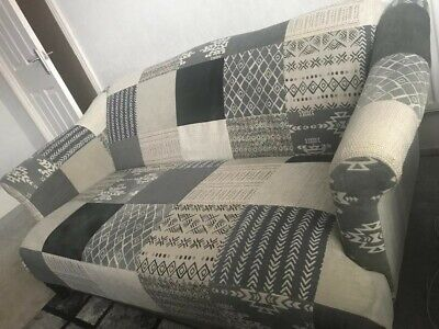 £300 • Buy DFS Patchwork Sofa And Pouffe