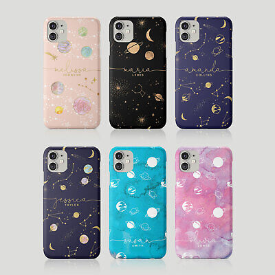 £5.99 • Buy Tirita Personalised Case For IPhone 11 12 7 8 SE XR Space Stars Moon Planets