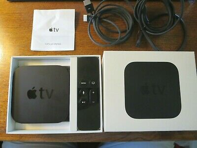 AU81.51 • Buy Apple TV 4th Generation 1080p HD 32gb Model A1625 W/ Remote And Power Cable BOX