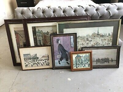 £0.99 • Buy L.S Lowry Prints In Frames | Job Lot | 7 In Total | Various Sizes