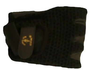 £5 • Buy Gold's Gym Mesh Black Weight Lifting Gloves-Size L-Cotton Mesh Back/Leather Palm