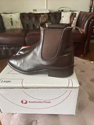 AU185 • Buy Mens Rm Williams Boots,size 7h,dark Brown,good Leather Soles ,very Good Boots