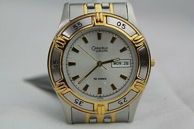 $89 • Buy New Caravelle By Bulova  Two Tone Watch Water Resistant Stainless A1