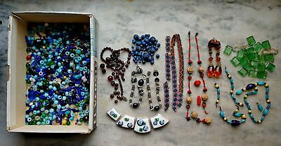 $ CDN15.11 • Buy Vintage Lot Of Costume Jewelry Beads, Necklaces For Restring Or Re-Purpose No. 2
