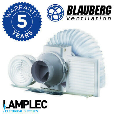 £44.95 • Buy Blauberg Turbo Mixed Flow Shower Fan Kit With Timer, 187m3/hr High Speed Inline