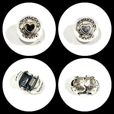 AU29.99 • Buy Genuine Pandora 14CT Gold And Sterling Silver Two Tone Family & Love Clip Charm