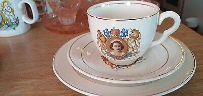 £14.80 • Buy 1953 Vintage China Coronation Cup Saucer Plate