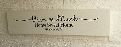 £5.79 • Buy Home Sweet Home Personalised Wooden Sign Plaque House Warming Gift Sign New Home