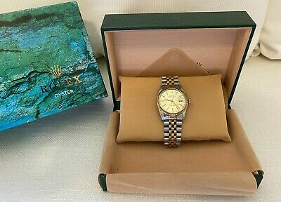 $ CDN5350 • Buy Rolex Datejust 16013 Men's Gold / Stainless Steel Watch Champagne Gold Dial 36mm