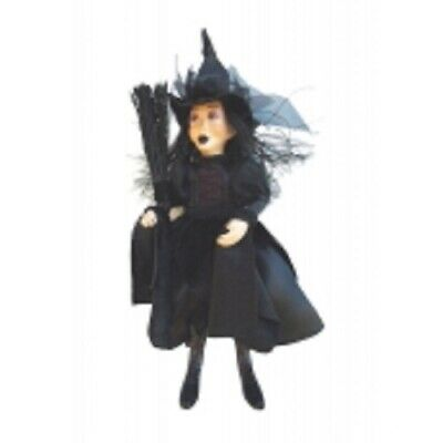 £22.95 • Buy Witches Of Pendle *zara Goth  Black 24 Cm Flying Witch  Info Book Occult