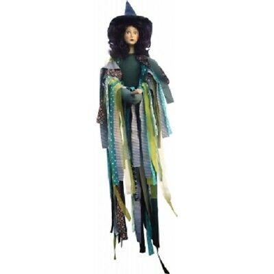 £32.50 • Buy Witches Of Pendle *crystal  Green Flying Witch 65 Cms  Info Book Pagan/ Occult