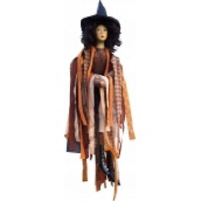 £32.50 • Buy Witches Of Pendle *crystal  Brown Flying Witch 65 Cms  Info Book Pagan/ Occult