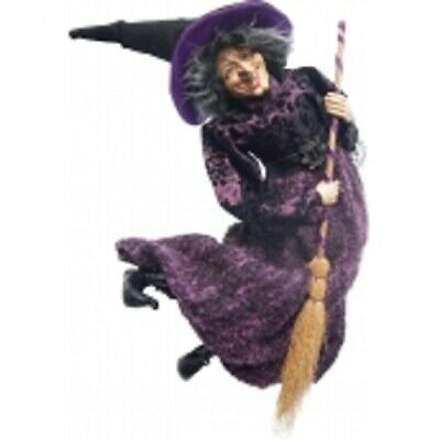 £29.95 • Buy Witches Of Pendle *edwina  Purple Flying Witch 50 Cms Info Book Pagan/ Occult