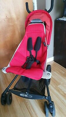 £120 • Buy Micralite Super Lite Fastfold Stroller Pushchair Red With Black Airflo Carrycot