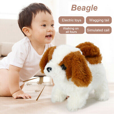 £11.70 • Buy Robot Electronic Dog Plush Puppy Wag Tail Toys Walk Bark Funny Toy For Kids Gift