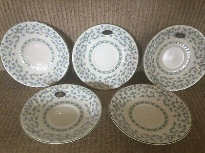 £4.95 • Buy Aynsley ' Forget Me Not '  5 X Tea Saucers - Excellent