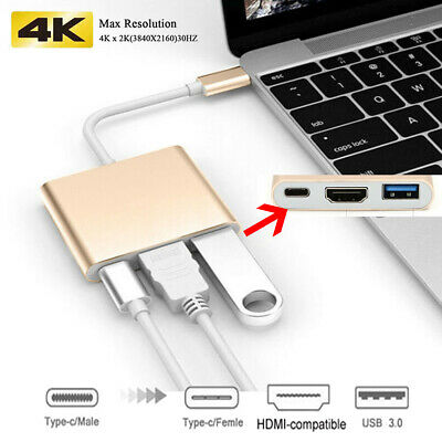 $10.99 • Buy USB Type C To HDMI HDTV TV Cable Adapter Converter For Samsung Galaxy Macbook US