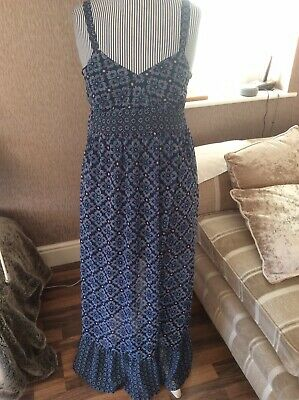 £3.99 • Buy Next Summer Style Long Dress With Short Underskirt Size 8