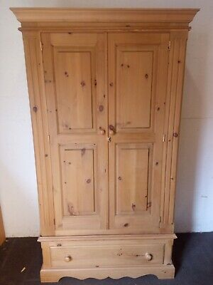 £145 • Buy Solid Pine Wardrobe With Drawer, FREE DELIVERY NORFOLK/SUFFOLK