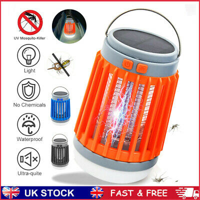 £15.99 • Buy USB Solar Zapper Insect Fly Indoor Outdoor Mosquito Killer Bug Trap Catcher Lamp