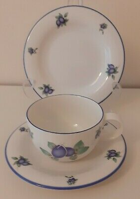 £14.75 • Buy Royal Doulton Everyday Blueberry TC 1204 Trio Cup Saucer &  Plate