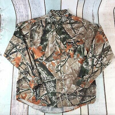£19.99 • Buy Outfitters Ridge Mens Realtree Shirt Long Sleeve Cotton Camo Camouflage L Large