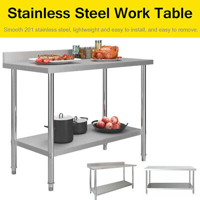 £159.98 • Buy Commercial Prep Catering Table Work Bench Kitchen Dissecting Top Stainless Steel
