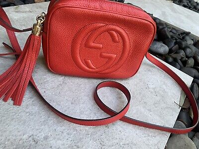 AU880 • Buy Gucci Soho Small Disco Bag Red- Excellent Condition With Authentication