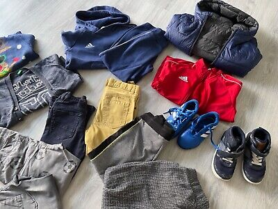 £20 • Buy Set Of Lovely Matching Boys Ralph Lauren Adidas RI H& Clothes And Shoes Size 4-5
