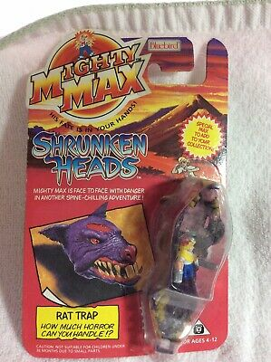 £14.54 • Buy Mighty Max Shrunken Heads Rat Trap 1993 Factory Sealed