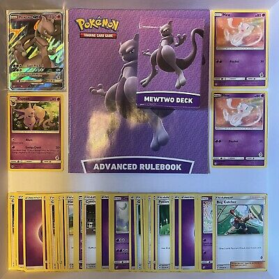 £11.99 • Buy 60 Stamped Pokemon Cards In Mewtwo Deck Box - Battle Academy - Mew - Espeon
