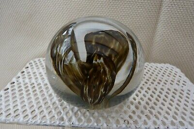 £7.50 • Buy Strathearn 'Orchid' Paperweight In Brown
