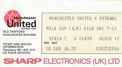£1.99 • Buy Manchester United V Arsenal LC Semi Final 1982-83 Ticket