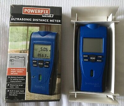 £4.99 • Buy Powerfix Ultrasonic Distance Meter / Measure New Boxed With Instruction Manual