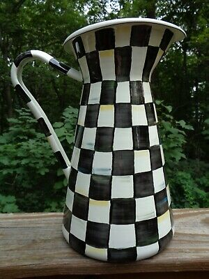 $25 • Buy Mackenzie Childs Courtly Check Practical Pitcher - Large, Damaged