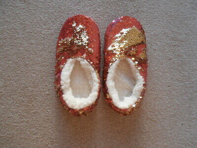 £1 • Buy Slippers New Size 4 Sequined With Fleece Lining Glamourous