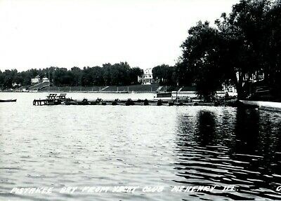AU40.70 • Buy Pistakee Bay From Yacht Club McHenry C1940's Illinois RPPC Photo Postcard
