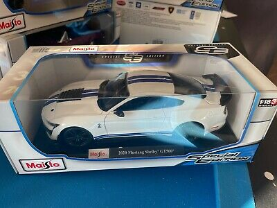AU59.90 • Buy Maisto 2020 Ford Shelby GT500 Mustang Die Cast Car Model 1:18 White