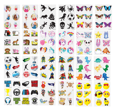 £1.99 • Buy 36 KIDS TEMPORARY TATTOOS Childrens Girls Boys Novelty Party Loot Bag Fillers