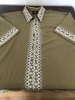 £8 • Buy Mens Stunning And Unusual Short Sleeve Shirt XXL Chinese Temple Printed On Back