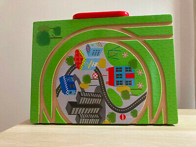 £2.99 • Buy Brightly Coloured Wooden Toy Train Play Set In Carry Case