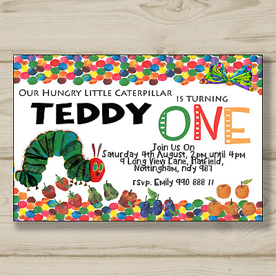 £16 • Buy The Very Hungry Caterpillar Birthday Party Invitation - A6 With Envelopes